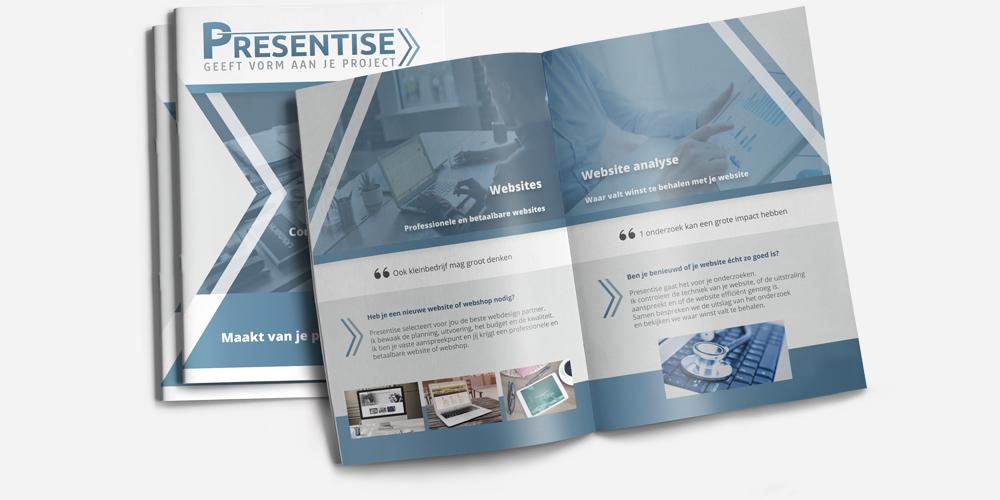 Grafisch ontwerp Breda, brochure Presentise